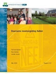Duurzame mestvergisting Aalten - Wageningen UR