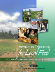 Working Together for Local Food - Canadian Co-operative Association