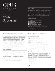 Wealth Structuring Services - Opus Private