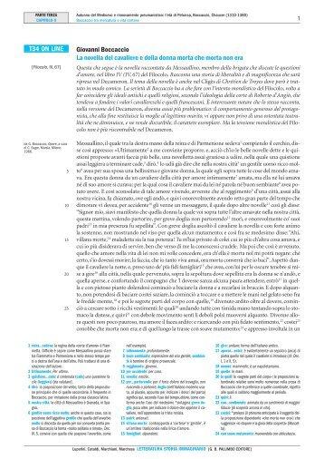 T34 ON LINE Giovanni Boccaccio La novella del ... - Palumbo Editore