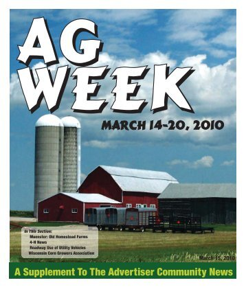 MARCH 14-20, 2010 - Advertiser Community News