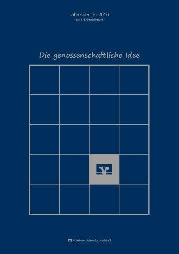 Die genossenschaftliche Idee - Volksbank Uelzen-Salzwedel eG