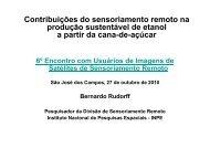 Contribuições do sensoriamento remoto na produção ... - INPE-DGI