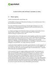 Ägaranvisning för Apoteket AB - bilaga 3