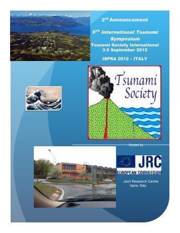 5th TSUNAMI SYMPOSIUM ISPRA-2012 - Tsunami Society ...