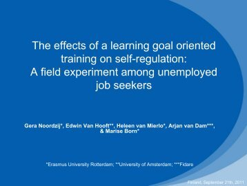 The effects of a learning goal oriented training on self-regulation: A ...