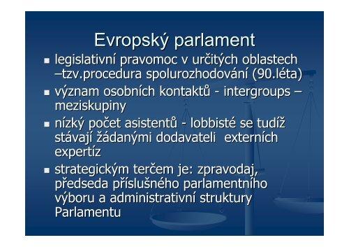 Lobbing v Evropské unii - Laboutková - Euroskop.cz