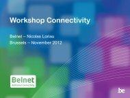 Workshop Connectivity - Belnet - Events