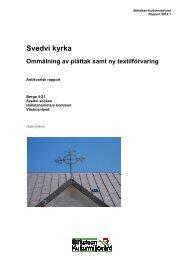 Stiftelsen Kulturmiljövård Rapport 2012:1. - KMMD