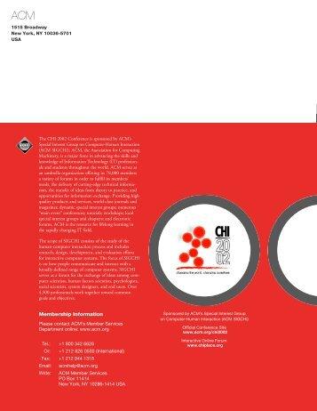 advance program (PDF) - SigChi