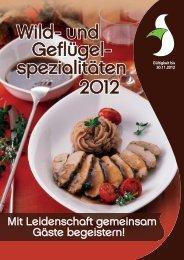 PDF-Wild- und Geflügelangebot 2012 - Recker Feinkost GmbH