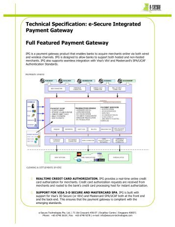 Integrated Payment Gateway - e-Secure Technologies