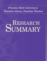 RESEARCH SUMMARY RESEARCH SUMMARY