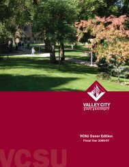 vcsu donor edition 2007.indd - Valley City State University