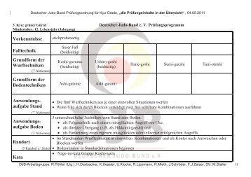 DJB-Prüfungsordnung für den 3. Kyu (.pdf) - Judo in Freiberg