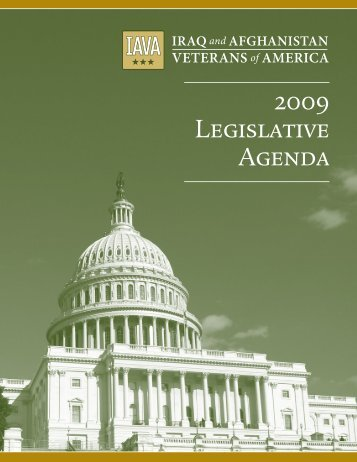 2009 Legislative Agenda - Iraq and Afghanistan Veterans of America