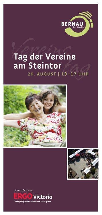 Tag der Vereine am Steintor - Vereine Bernau