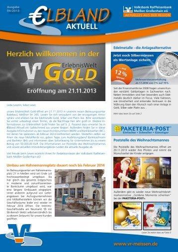 Kundenzeitschrift Ausgabe 04/2013 Region Meißen - Volksbank ...