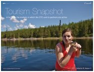 Read the Tourism Snapshot –April 2013 in full. - Canadian Tourism ...