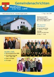 Ausgabe März 2009 (4,81 MB) - Waidhofen an der Thaya-Land