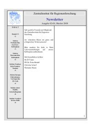 Newsletter 02/2008 - Zentralinstitut für Regionenforschung