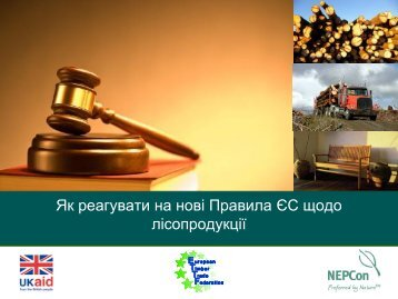Як реагувати на нові Правила ЄС щодо лісопродукції - NEPCon
