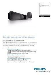 HTS6120/12 Philips Soundbar Cine en casa con DVD - Supersonido
