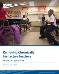 Removing Chronically Ineffective Teachers - NIUSI Leadscape