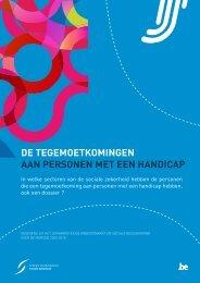 De tegemoetkomingen aan personen met een handicap (.pdf)