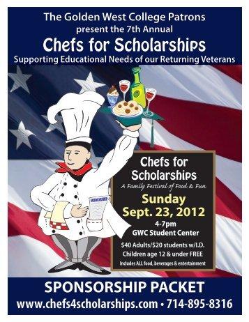 Chefs for Scholarships SPONSORSHIP PACKET - Golden West ...