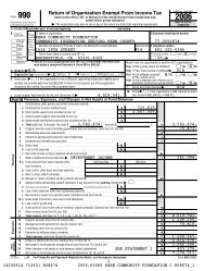 Return of Organization Exempt From Income Tax - Kern Community ...