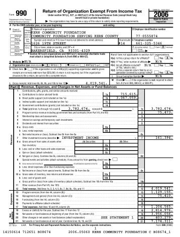 Short Form Return of Organization Exempt From Income Tax ... - IAMG