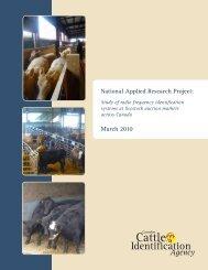 Final Report - Canadian Cattle Identification Agency