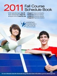 2011Fall Course Schedule Book - Lansing Community College