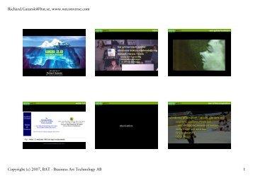 2007, BAT J Business Art Techno1ogy AB 1 ... - Richard Gatarski