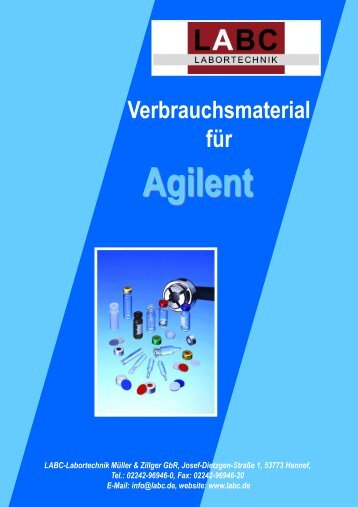 300 Verbrauchsmaterial für Agilent - LABC Labortechnik