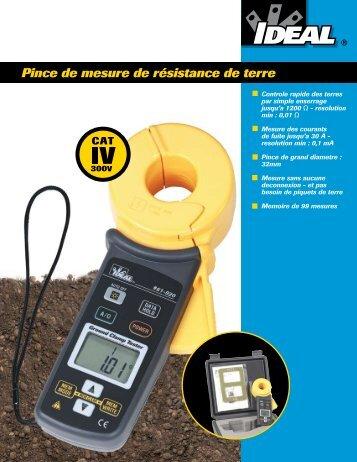 Pince de mesure de résistance de terre - Ideal Industries