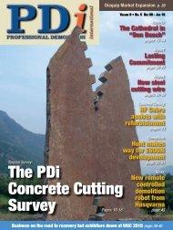 The PDi Concrete Cutting Survey - Pdworld.com