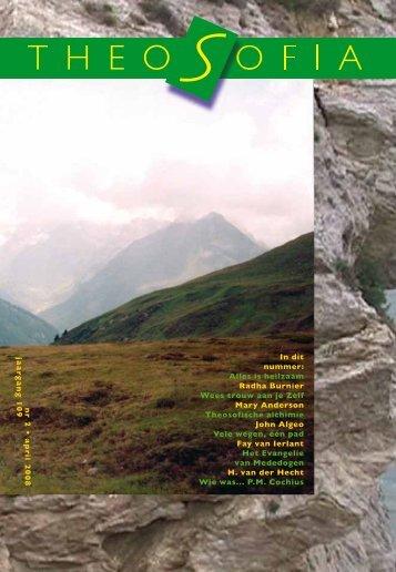 Jaargang 109, nummer 2, april 2008 - Theosofische Vereniging in ...