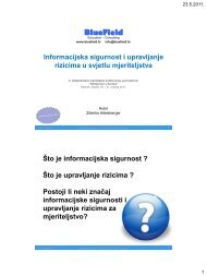 Upravljanje sigurnošću informacijskih sustava
