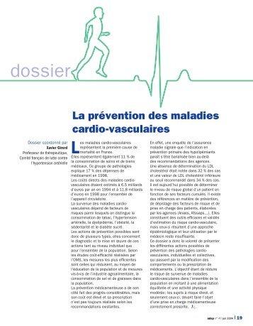 La prévention des maladies cardio-vasculaires - Haut Conseil de la ...