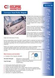 *503 Conveyor Head Roller - Eclipse Magnetics