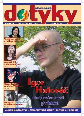 Igor Holováč - Slováci vo svete