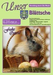 Unser Blättsche · Ausgabe 75 · April 2011 - VDesign Agentur für ...