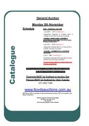 General Auction Monday 5th November Schedule - Lloyds ...