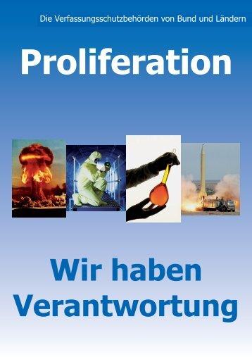 Proliferation - Bundesamt für Verfassungsschutz