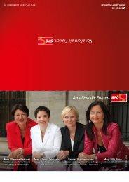 Frauenwahlfolder 2010 - SPÖ Frauen