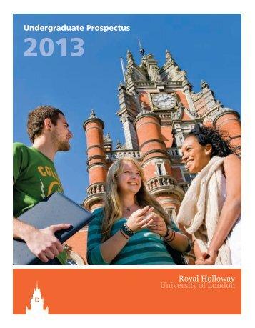 Undergraduate Prospectus - Royal Holloway, University of London
