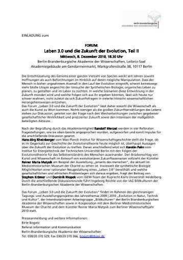 Leben 3.0 und die Zukunft der Evolution, Teil II Leben 3.0 und die ...
