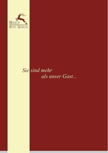 Corell Speisekarte - Hirsch Hotel Gehrung